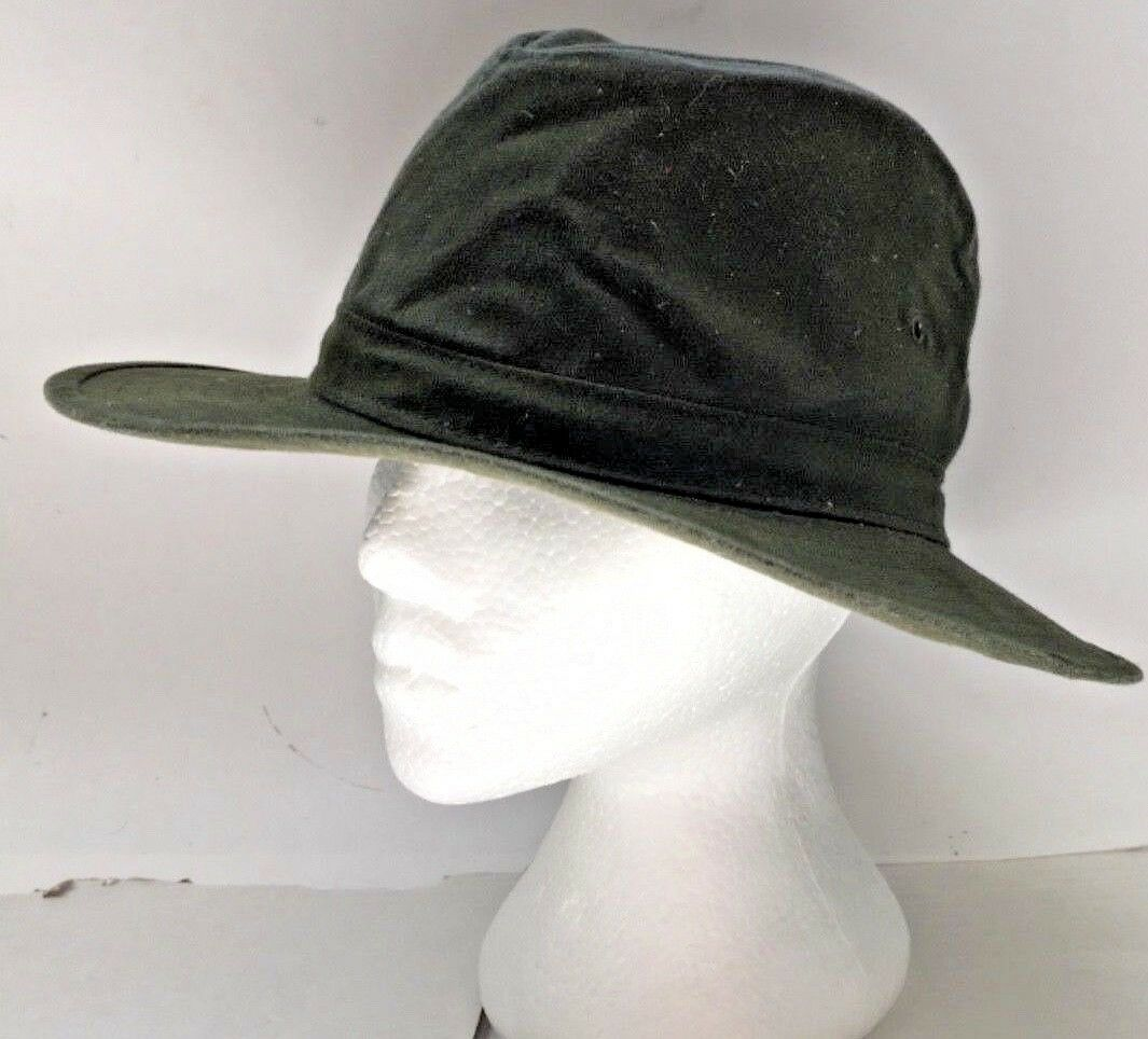 THE AUSTRALIAN Hat Size Small Packable Made Crushable Wide Brim GREEN Made Packable In USA 606a2d