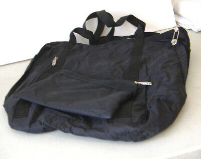 GGZ STURDY TOTE top tab closure /& front snap-close pocket folds into self-pouch