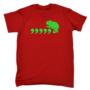 Funny-Novelty-T-Shirt-Mens-tee-TShirt-Comma-Chameleon