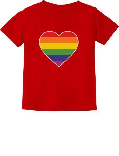 Love Pride Gay /& Lesbian Rainbow Heart Flag Infant Kids T-Shirt Gift Idea