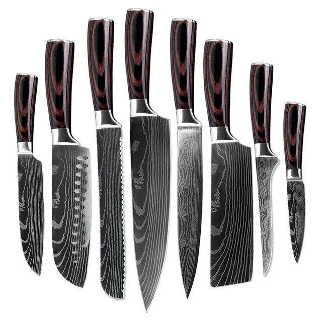 Küchenmesser 5er Set Messerset Kochmesser Allzweckmesser Obstmesser Edelstahl