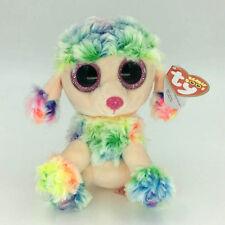 "Ty Beanie Boos Rainbow Poodle Dog 6"" Stuffed Plush Toys Gifg GL"