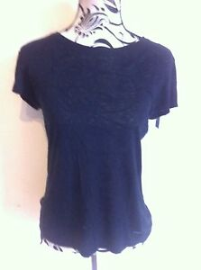 Diesel-T-shirt-Top-100-silk-Bell-Shape-Sleeves-Ladies-Size-S-10-New