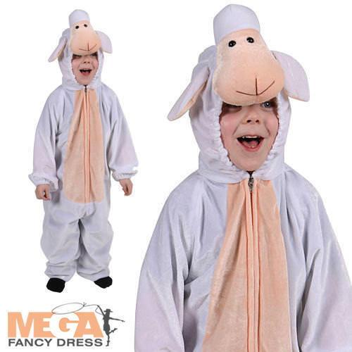 Kids Lamb Farm Animal Fancy Dress Sheep Nativity Christmas Book Week Costume
