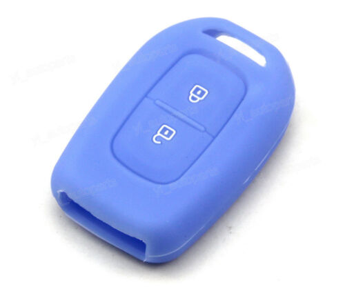 Blue Silicone Case Cover For Renault Duster Oroch Laguna Remote Key 2 Buttons