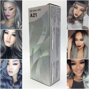 Image Is Loading Berina A21 Light Grey Hair Color Cream Permanent