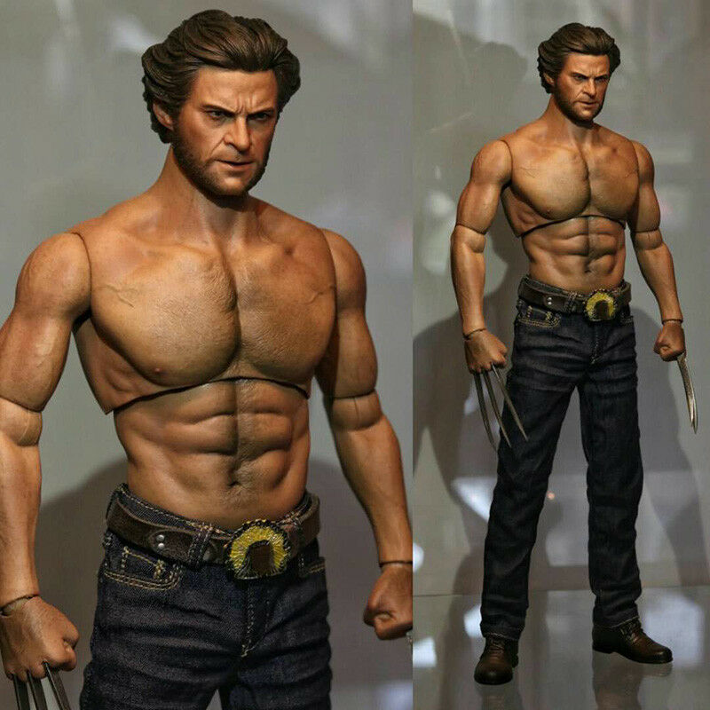 WorldBox AT012 Wolverine Logan Durable Crazy Male Muscular Body Toy Toy 1 6 Scale