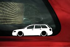 2x LOW 'Audi A4 avant estate wagon (B6) lowered outline silhouette stickers