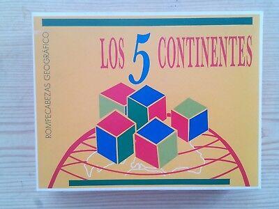Accurato Los 5 Continentes - Rompecabezas Geografico Una Grande Varietà Di Merci