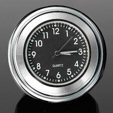 7/8'' or 1'' Universal Motorcycle Bike Handlebar Mount Dial Clock Chrome Black