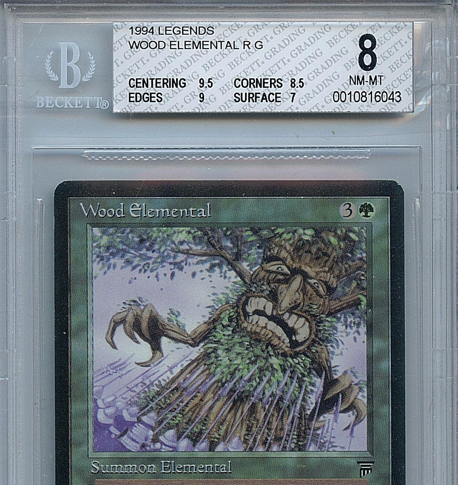 MTG Legends Legends Legends Wood Elemental BGS 8.0 NM-MT Card Magic Amricons 6043 cdfebe