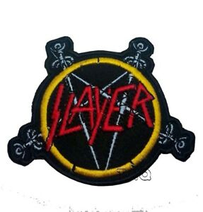SLAYER-ROCK-BAND-Iron-On-Sew-EMBROIDERED-Patch-Goth-Punk-Rock