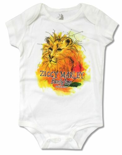 Ziggy Marley Lion White One Piece Crawler Shirt New Official Baby Infant