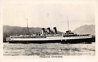 A50/ Canada Victoria B.C. Postcard Photo RPPC 1947 S.S. Princess Kathleen Ship