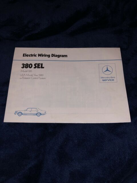 Mercedes Benz Electric Wiring Diagram 380 Sel Model 126