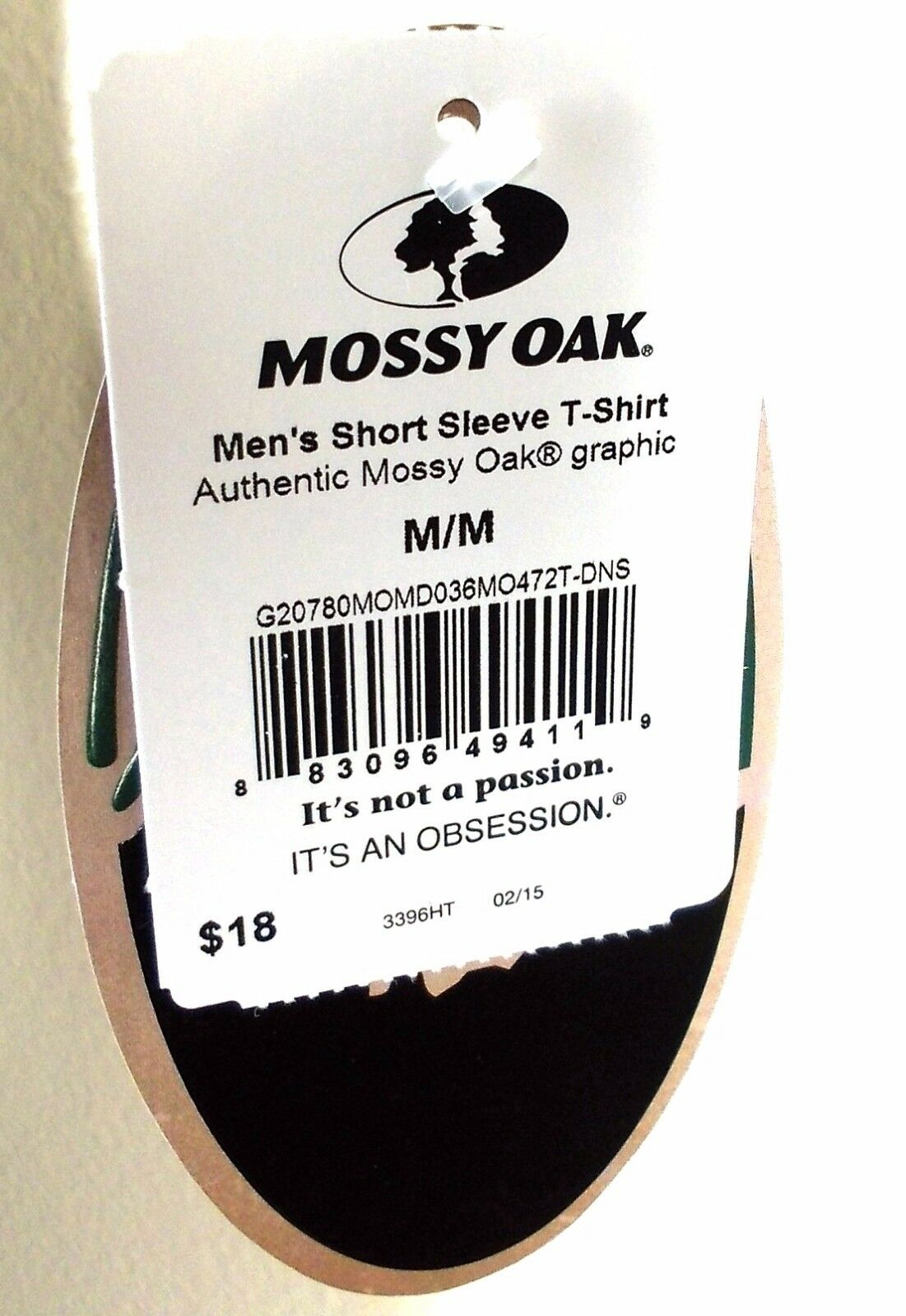 Mossy Oak® Authentic Graphic Men/'s T-Shirt Passion Obsession Short Sleeve Crew