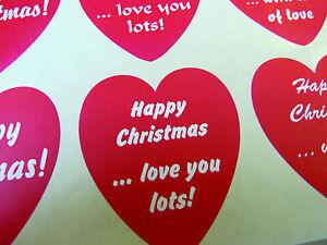 Adesivi Buon Natale.Dettagli Su Buon Natale Saluti Adesivi A Cuore Etichette Per Carte Regali Buste