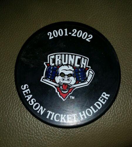 SYRACUSE CRUNCH OFFICIAL PUCK AHL HOCKEY 2001-2002 SEASON TICKET HOLDER RARE HTF
