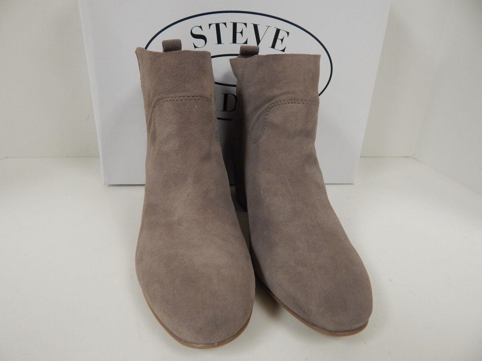 Steve Madden Harber Taupe Suede Leder New Slip On Ankle Stiefel New Leder 2a3e38