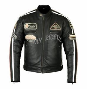 Blouson-En-Cuir-Moto-Homme-Vintage-Cafe-Racer-Leather-Jacket-Veste-Moto