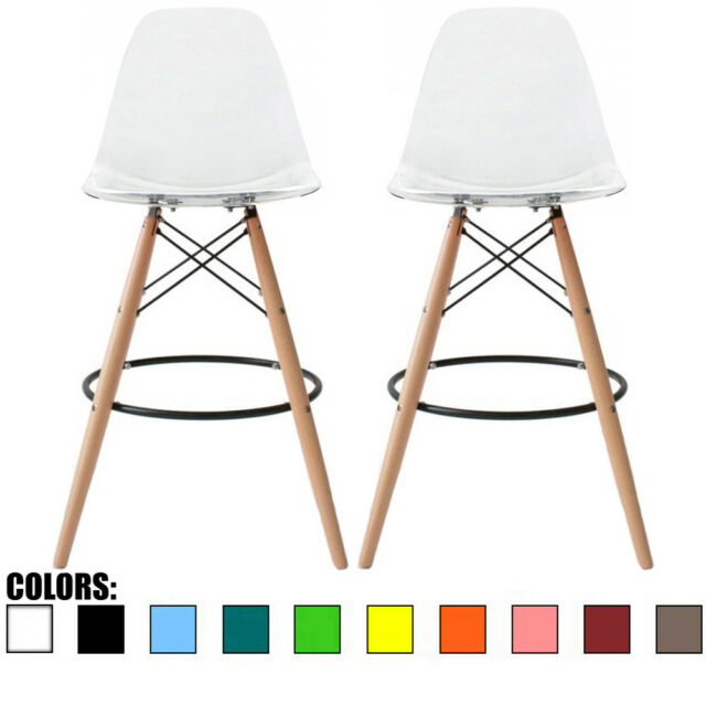 Excellent Set Of 2 Modern Contemporary Bar Stool Pub Chairs Eiffel Metal Leg Bar Height Gmtry Best Dining Table And Chair Ideas Images Gmtryco