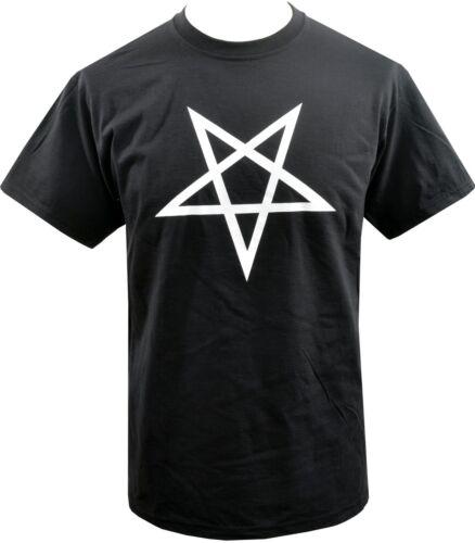 T-shirt homme inversé Pentagram satantic occulte Église de Satan chèvre Goth S-5XL
