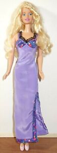 Mattel Barbie Doll With Purple Dress