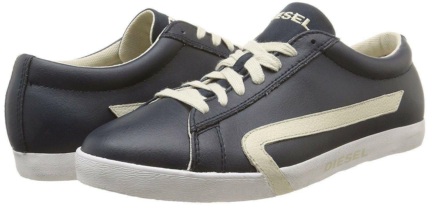 Men Sneaker Diesel Casual shoes Bikkren Leather bluee White Y01112 P0612 H5503