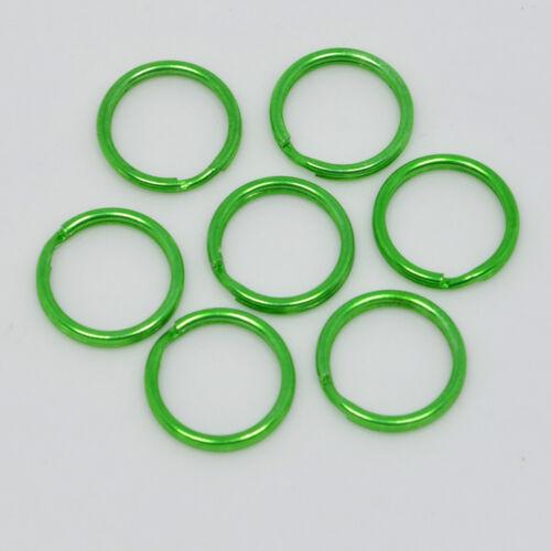 15mm GREEN TOP QUALITY ROUND SPLIT KEY RING DOUBLE LOOP CRAFTS FINDINGS KEYRINGS