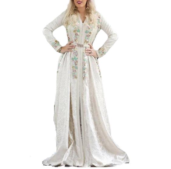 Royal Morccan Caftan Ethnique Robe de mariée Maroc mariage robe Handmade pré-Orde