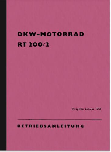 DKW RT 200//2 manuale istruzioni manuale rt200//2 User Manual