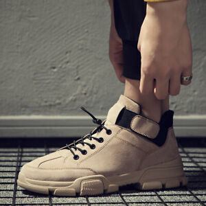 Men-039-s-British-Style-Oxford-Leather-Tooling-Work-Shoes-Fashion-Cotton-Warm-Winter
