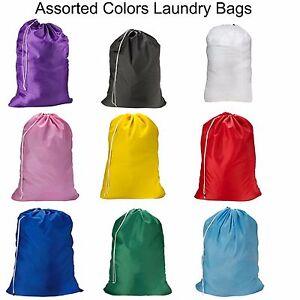 New WHOLESALE Jumbo Nylon Laundry Bag 30x40 with Drawstring Closure