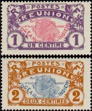 EBS Reunion La Réunion 1907 Map - Carte de la Réunion - 56-57 MNH**