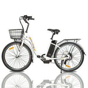 """26""""36V10AH 350W Litium ION Electric Bicycle e-Bike LED 7 speed Removable Battery"""