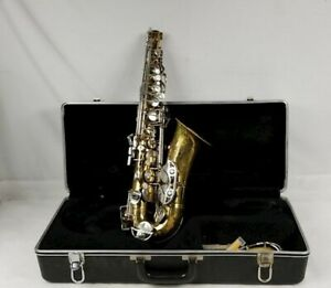 Selmer-Bundy-II-Alto-Saxophone-w-Neck-Mouthpiece-amp-Case-USA-Good-Condition
