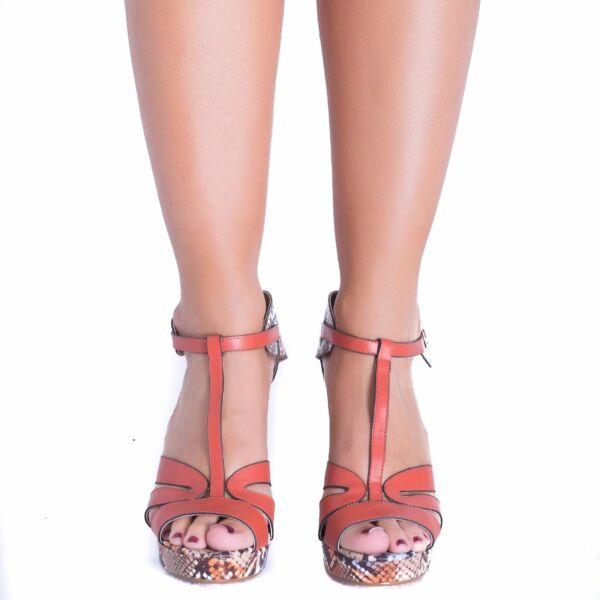 Señoras Para Mujer Correa De Tobillo Plataforma Serpiente Impresa Grueso Tacón Alto Sandalias De Niñas-ver