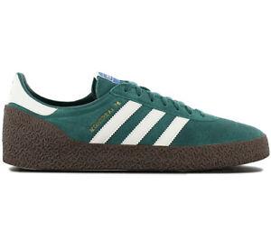 Adidas-originals-montreal-76-Men-039-s-Sneaker-B41480-Leather-Green-Shoes-Sneakers