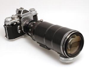 Tair-4-5-300-mm-Schnellschusobjektiv-mit-Edixa-Kamera-und-Isco-50-mm-Objektiv