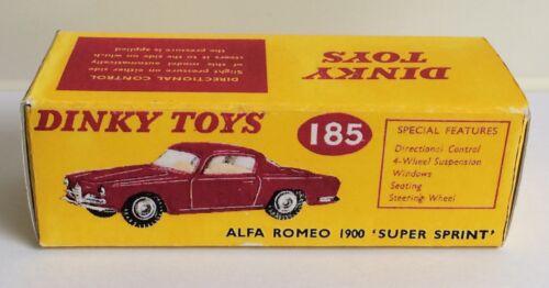 Dinky 185 Alfa Romeo 1900 Super Sprint Empty Repro Box Only