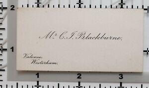 Antique-Calling-Card-Mr-C-Blackburne-Valence-Westerham