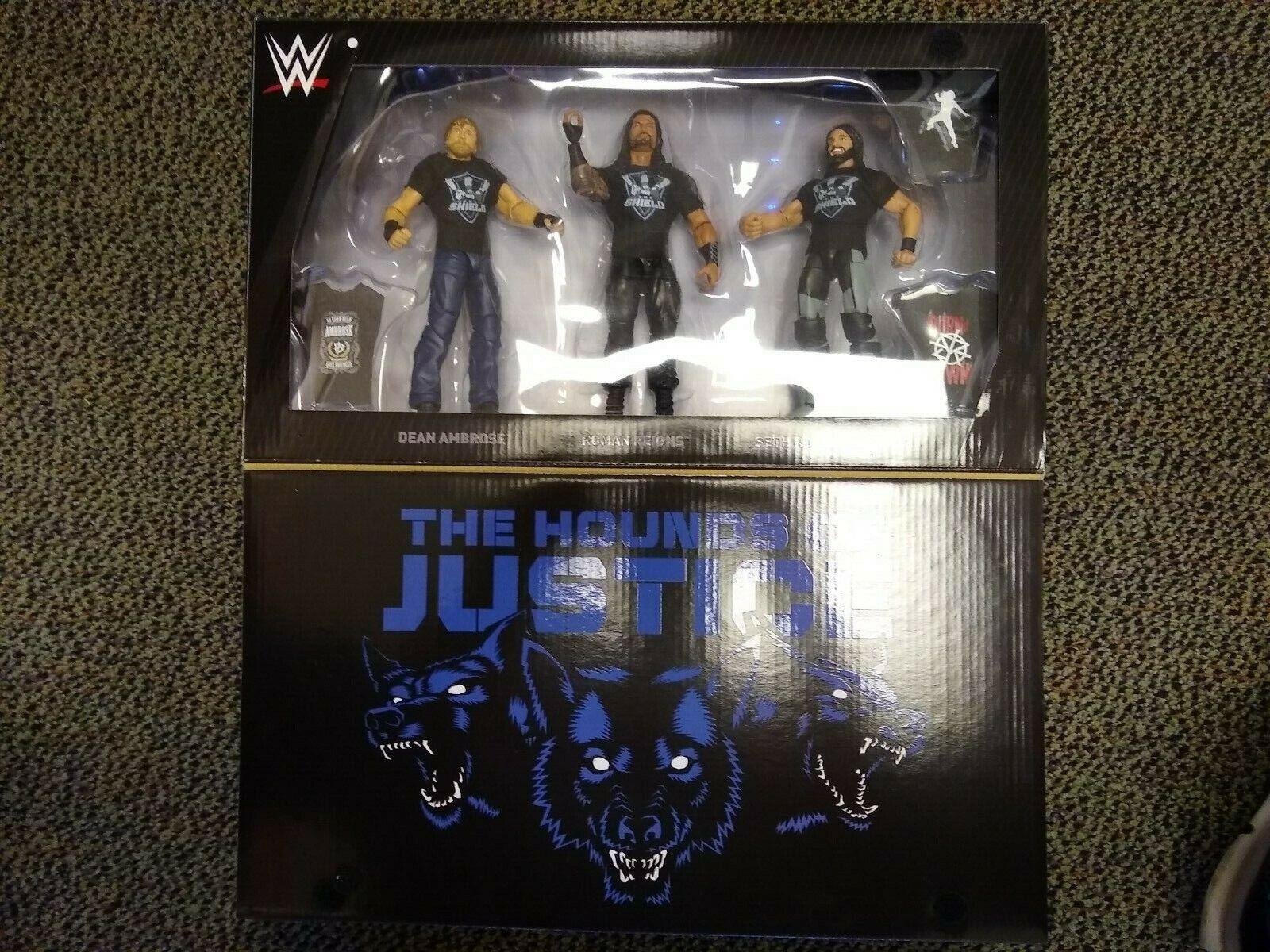 WWE Mattel Elite Hounds of Justice  Bouclier Exclusive Figure Box Set  grand choix et livraison rapide