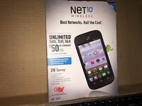 Zte Savvy Prepaid Mobile Phone For Net 10 Wireless - Black Price Drop