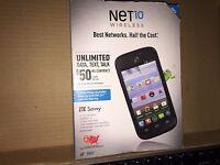 Zte Savvy Prepaid Mobile Phone For Net 10 Wireless - Black Price Drop