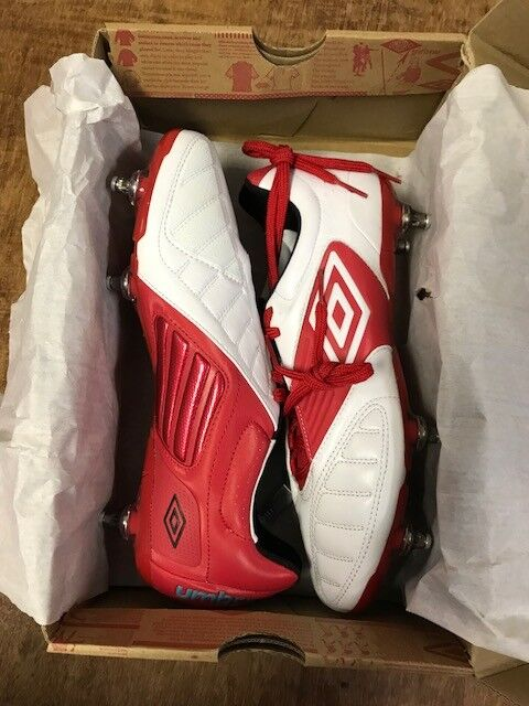 Umbro Geometra Pro A Rugby SG Football Rugby A Stiefel Weiß True ROT Kingfisher c4393e