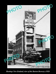 OLD-LARGE-HISTORIC-PHOTO-HAMILTON-NEW-ZEALAND-VIEW-OF-THE-BURTON-BREWERY-c1920