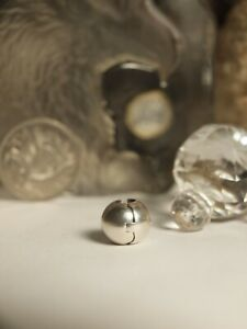 GENUINE-PANDORA-STERLING-SILVER-CHARM-034-SPHERE-BALL-ORB-FIXED-CLIP-034