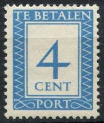 Stamps 4c Postage Due Mh #d78327 Netherlands 1947-58 Sg#d658 Europe
