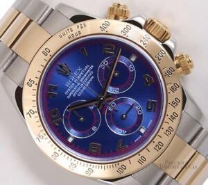 Rolex-Daytona-116523-Two-Tone-18k-Gold-amp-Steel-40mm-Blue-Arab-Dial-Gold-Bezel