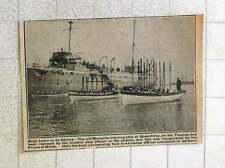1923 Modern Ship Replaces Old Warspite Training Ship Greenhithe
